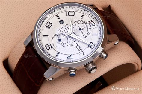 Montblanc Flyback Leather Bw For montblanc watches watchmarkaz pk watches in pakistan rolex watches price casio watches