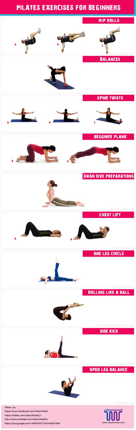 pilate exercises for beginners images