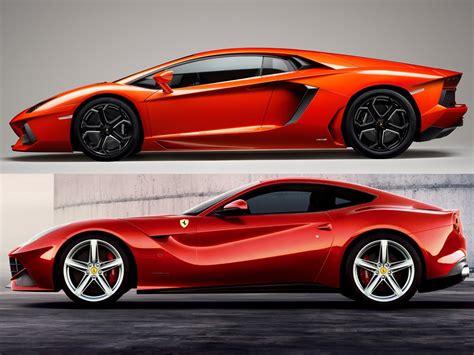 Ferrari Vs Lamborghini by Ferrari F12berlinetta Vs Lamborghini Aventador Lp 700 4