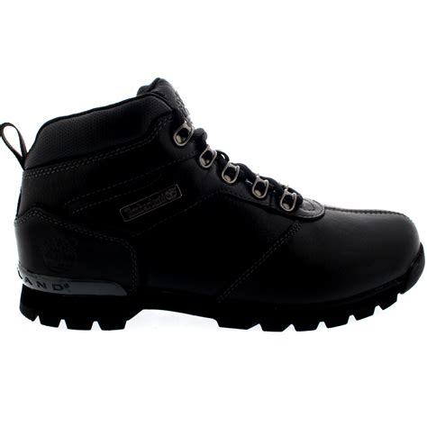 mens black leather walking boots mens timberland splitrock 2 hiking black leather walking