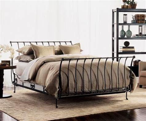 iron sleigh bed sleigh beds beds and irons on pinterest