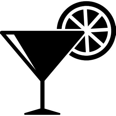 cocktail icon vector cocktail glass with lemon slice free vectors logos