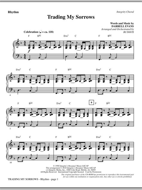 strumming pattern for trading my sorrows trading my sorrows rhythm sheet music at stanton s