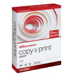 Office Depot Photo Printing Office Depot Brand Copy Print Paper Letter Size Paper 20