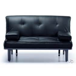 Leather Futon Sofa Bed 145 X 195 Cm Sofa 2 Seater Faux Leather Futon