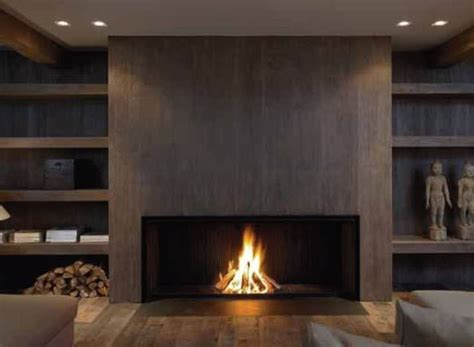 contemporary fireplace wood burning open hearth