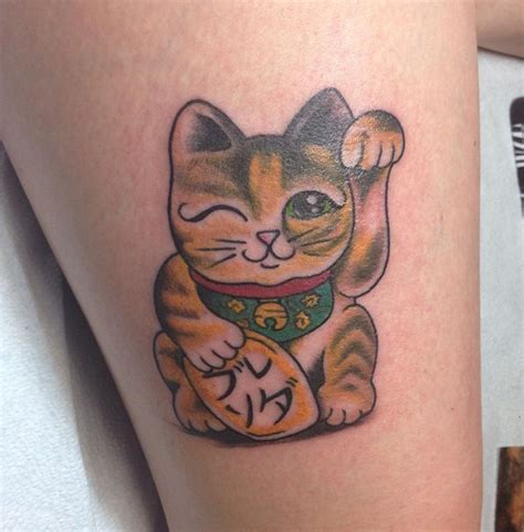 luck tattoo designs lucky cat tattoos designs ideas and meaning tattoos for you