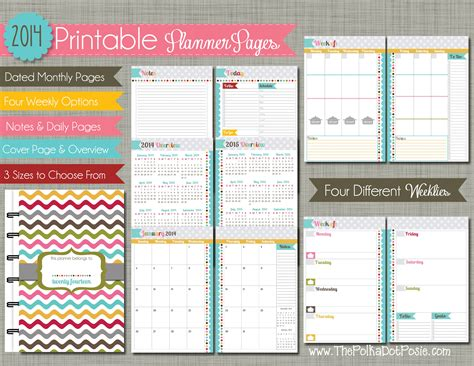 printable planner pages 2016 5 best images of 2016 planner binder free printables