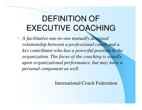 meaning of couching executive coaching for the seriously curious