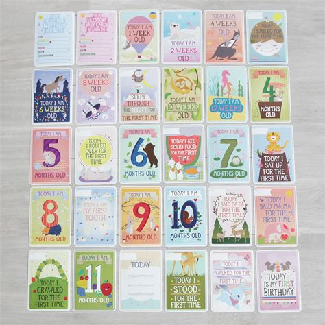 picture cards milestone baby cards my 1st years