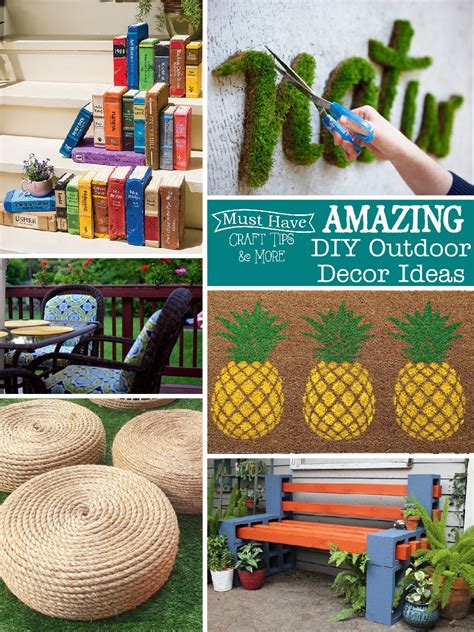 Outdoor Garden Decor Diy Diy Outdoor Decor Ideas Mine For The
