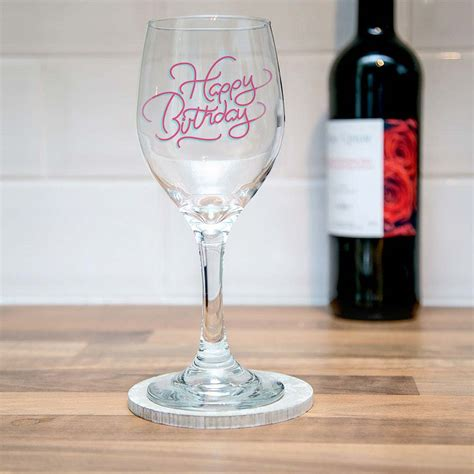 wine glass birthday happy birthday glasses 18th 21st 40th birthday glasses