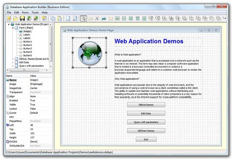 database creator database application builder
