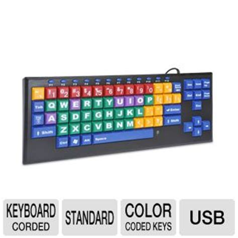 color coded keyboard buy the kinderboard kb color coded computer keyboard at