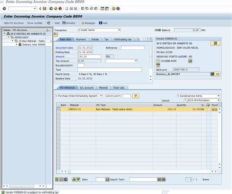 Credit Memo Form In Sap Basic Return Purchase Order Process Localization America Scn Wiki