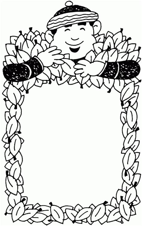 fall coloring page borders autumn borders coloring pages