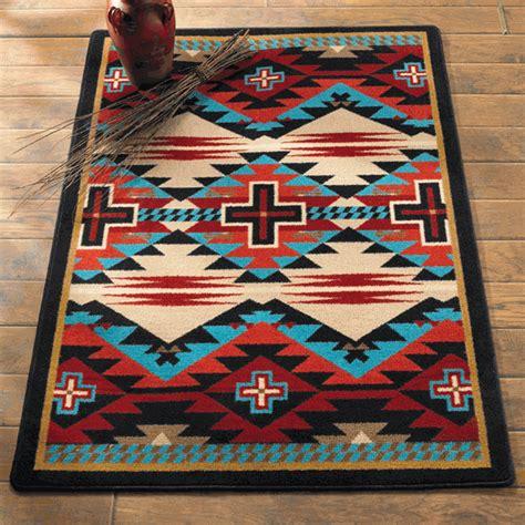 southwest rugs 5 x 8 rustic cross blue southwestern rug