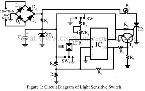 light sensitive switch electronics project