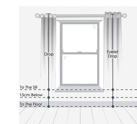 measuring eyelet curtains curtain measuring guide interiors inspiration advice