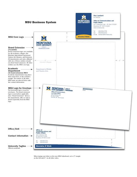 Clark College Letterhead business card policy and procedure graphic identity and
