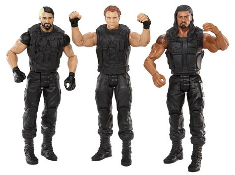 big w figures exclusive figure 3 pack reigns rollins ambrose