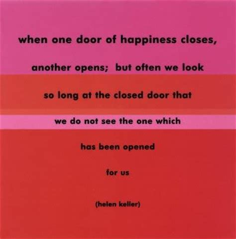 When We Get Closed Doors by Sympathy Quotes Helen Keller Quotesgram