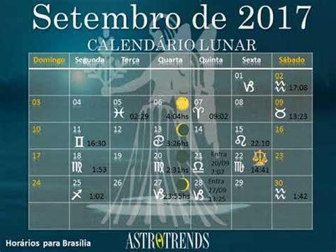 Calendario Lunar Setembro 2017 Calendario Lunar Setembro 2017