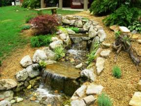 Small Backyard Waterfall Small Pondless Waterfall Kits All In One Home Ideas