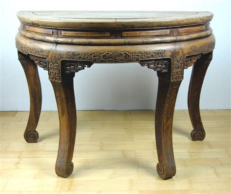 half circle entry table antique half circle wood table entry side stand ebay