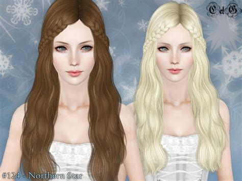 sims 3 braids cc double braided bangs northern star hairstyle by cazy