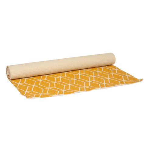 Geometric Runner Rug Yellow Geometric Runner Rug By I Retro Notonthehighstreet
