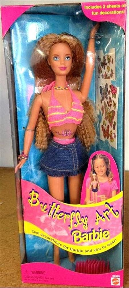 butterfly tattoo barbie barbie butterfly art barbie box 20359 value and details