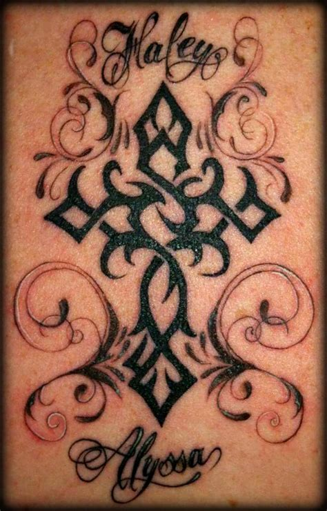 tattoo crosses with names 30 best tattoos images on tatoos pretty