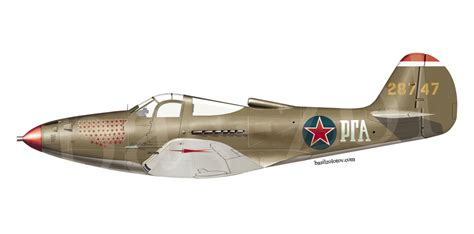 O P I I 39 bell p 39q 25 airacobra side view by basil zolotov