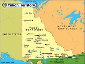 yukon map canada map of yukon canada canadaspace