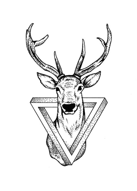 59 best geometric deer tattoos