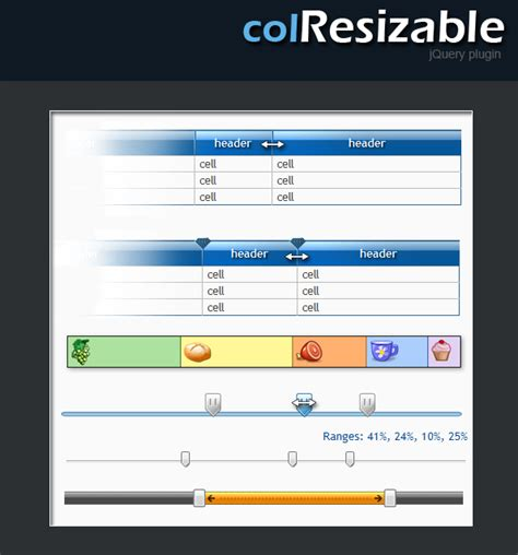 jquery ui layout pane width jquery ui layout size percent colresizable resizable