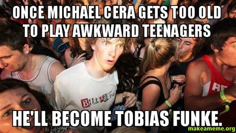 Michael Cera Meme - once michael cera gets too old to play awkward teenagers