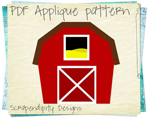 farm template barn applique template farm applique pattern farm quilt