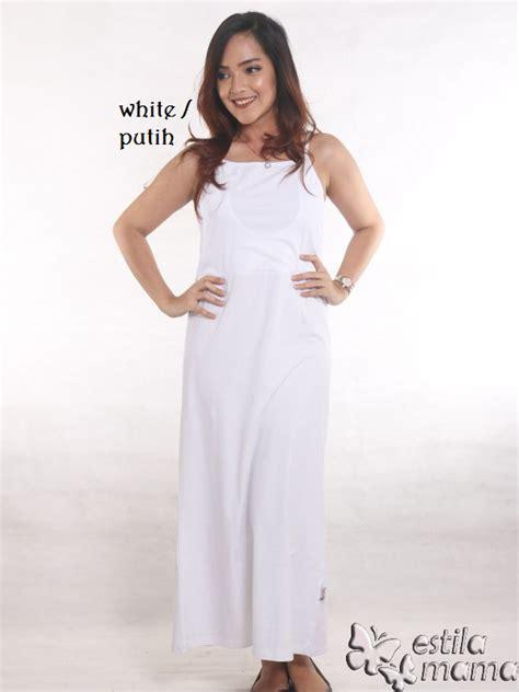 Maxi Putih tankdress menyusui maxi putih estila