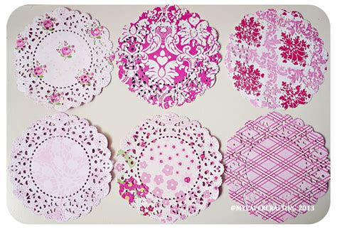 Doily Mix Pack 6 parisian lace doily story mixed pattern paper pack on luulla