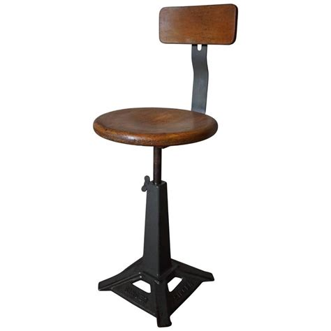 Working Stools by Singer Work Chair Stool At 1stdibs