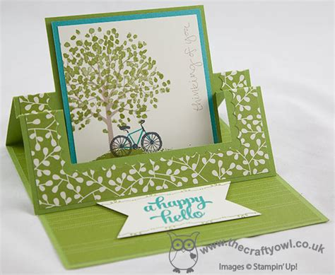 how to make a swing card the crafty owl sheltering tree swing easel card