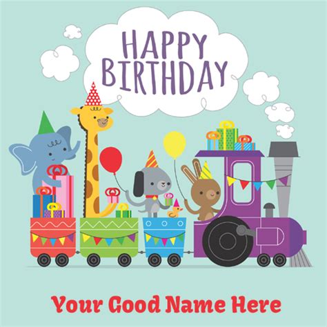 Happy Birthday Wishes To Small Kid Happy Birthday Card For Kids With Your Name