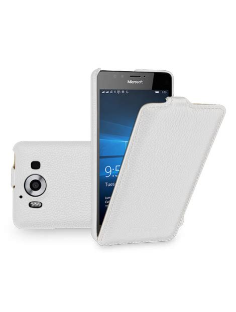 Premium Leather Gn 9009 tetded premium leather for microsoft lumia 950 950 dual sim troyes lc white