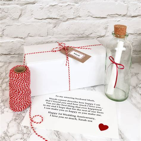 1st Wedding Anniversary Gifts by Personalised Wedding Anniversary Gift By