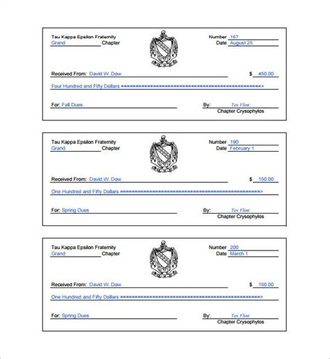 receipt book format receipt template doc for word documents in