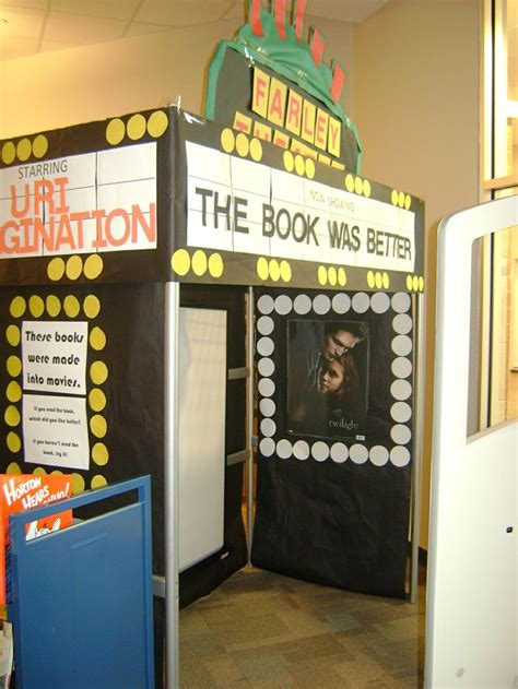 library book themed displays 39 best theater theme classroom images on pinterest