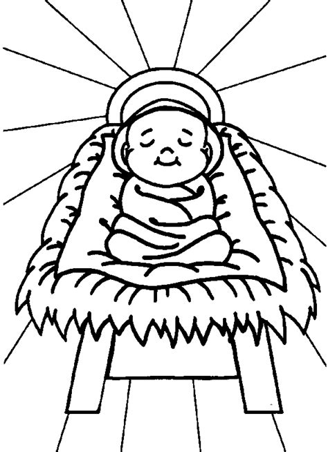 Coloring Pages Baby Jesus free printable jesus coloring pages for
