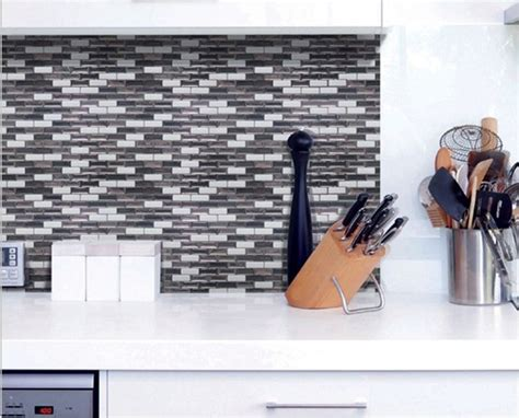 stick and peel tile backsplash diy peel and stick backsplash home interior design